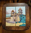 Vintage Antiques Taylor Santa Barbara Mission Arts & Crafts Tile Table Top