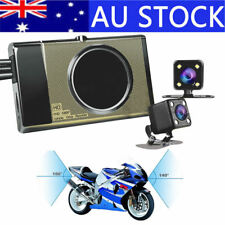 "Waterproof 3"" LCD HD Motorcycle Car Action Dual Camera Video Recorder Dash Cam"