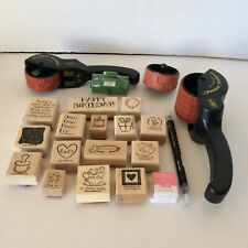 Stampin Up Stamps Stampin Around Wheels and Handles Blender Pen Ink Lot of 21