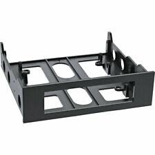 """Floppy-Einbaurahmen mit Schrauben 3,5"""" auf 5,25"""", schwarz"""
