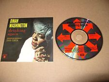 Dinah Washington Drinking Again 12 track cd 1989 Rare