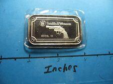 SMITH & WESSON MODEL 19 PISTOL REVOLVER GUN 999 SILVER BAR MINT SEALED RARE COOL