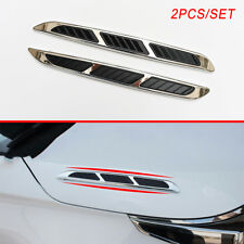 Vehicle Simulation Air Vent Flow Inlet Front Hood Decoration Decal Sticker Parts