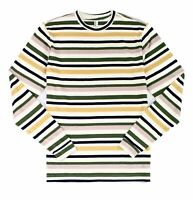 American Apparel Mens T-Shirt Blue Size Small S Striped Long Sleeve Tee $30 139