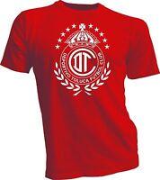 Deportivo Toluca FC Mexico Futbol Soccer T shirt Camiseta Jersey handmade RED