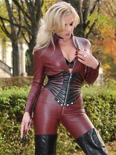 Leder Ledercatsuit Anzug Catsuit Overall 4-019K Burgunder Maßanfertigung