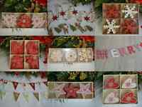 Wooden red white shabby chic christmas decorations garlands tree star heart