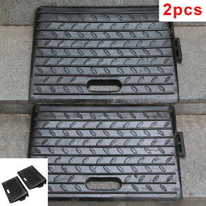 Industry 2PCS Rubber Kerb Ramps Truck Cars Wheelchair Disabled Access passageway
