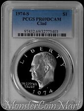 1974-S Clad Eisenhower Dollar PCGS PR69DCAM - TOUGH CLAD DATE IN THIS GRADE