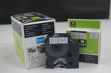 5PK D1 Tape Cartridge 45010 Black/Clear 12mmx7m for DYMO Label Manager Printers