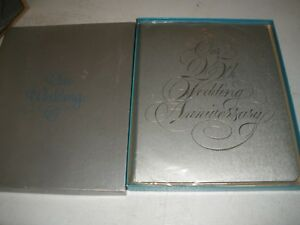 Never used Vintage 25th Anniversary Gibson Our Wedding Silver Book