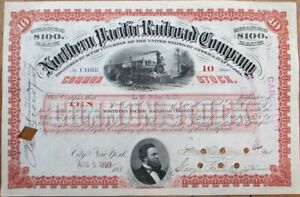 Northern Pacific Railroad Company 1893 Stock Certificate - Red