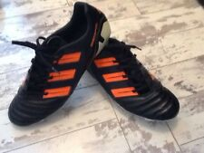Rare Black & Orange Adidas Predator Mundial Nova Football Boots Uk Size 10