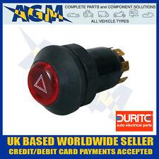0-484-50 Illuminated Universal 12v Panel Mount Push Button Hazard Flasher Switch