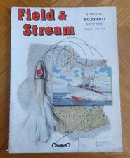 Field & Stream Magazine February 1951 Boating Issue Arnold C Holeywell