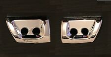 CHROME HEADLAMP JET WASHER COVERS LAND ROVER L322 VOGUE 2005-2009 MODELS