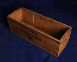 Vintage Harrods Taylors LBVR 1969 Wooden Port Box Case