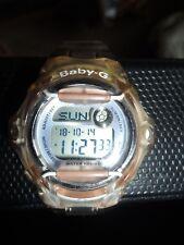 Casio Baby-G BG-169R Ladies Women Wrist Watch 5 Alarm Clear Brown Resin Strap