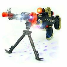 """Space Gun Toy kids galaxy Led Lights Sound 19"""" rifle machine gun scope stand"""