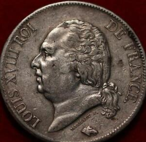 1819 France 5 Francs Silver Foreign Coin