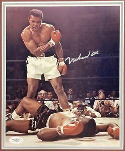 Muhammad Ali Signed Photo 8x10 Boxing Autograph vs Sonny Liston HOF JSA Framed