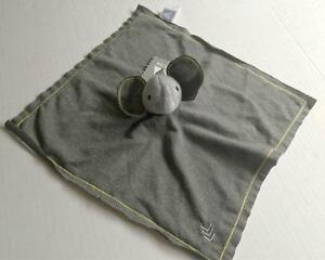 AMY COE Sampson Gray Elephant Baby Cozy Plush Lovey Blanket NWT Security GIFT