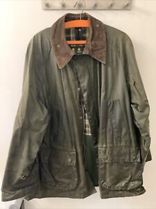 Barbour Bedale Jacket Herren grün C44 112cm