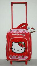 Mochila Infantil Niña Carro con Ruedas Hello Kitty Roja
