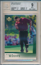 Lot of (5) Tiger Woods 2001 Upper Deck UD Golf #1 Rookie Card rC BGS 9 Mint