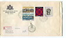 1975 FDC San Marino 15°mostra francobollo Tokyo RACCOMANDATA First Day Cover