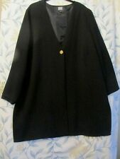 """LADIES Plus size 22 Black jacket approx 39"""" long /50"""" chest  FREE POST"""