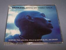 FAITHLESS - Bring My Family Back - (1999) - 4 Track CD Single