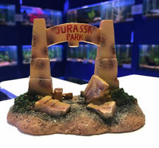 Jurassk Park Dinosaur Gates Aquarium Bridge Fish Tank Goldfish Bowl Ornament 913