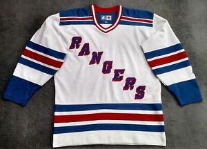 NHL Hockey Starter Official NEW YORK RANGERS Vintage 90s Mens Adult Jersey