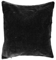 Starry Night Sparkle Black Velvet Bling 17 Inch Cushion Cover