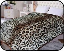 Hiyoko Animal Leopard Safari Mink 2 Ply Blanket Throw Bedspread Comforter 90x75