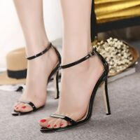 Women Fashion Ankle Strap High Heels Open Toe Sandals Stilettos Party Shoes New