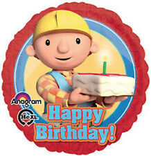 "BOB THE BUILDER PARTY SUPPLIES 17"" HAPPY BIRTHDAY ANAGRAM FOIL BIRTHDAY BALLOON"