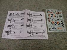 Blue Rider decals 1/48 RCF RAF Canada Curtiss Jennies  J105
