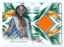 "KOFI KINGSTON ""GREEN SHIRT RELIC AUTOGRAPH CARD /50"" TOPPS WWE UNDISPUTED 2019"