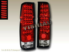 FIT FOR 86-97 NISSAN HARDBODY PICKUP RED CLEAR LED TAIL LIGHTS