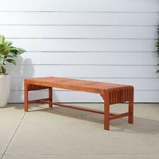 Vifah Malibu Patio 5-foot Wood Backless Garden Bench