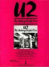 "1984 U2 ""The Unforgettable Fire"" Album Release Promo Reproduction Print Ad"