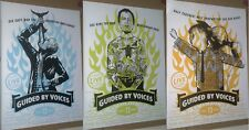 GUIDED BY VOICES BOB POLLARD Rare 2004 Final Gig Poster SET OF 3 POSTERS - RARE!