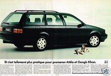 Publicité advertising 1990 (2 pages) VW Volkswagen Passat Break