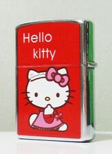 Hello Kitty Metal Refillable Windproof Flip Top Lighter