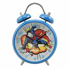 DC Comics Superman Mini Twinbell Alarm Clock. Childs Bedroom Superhero Cool Gift