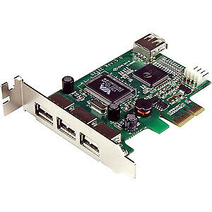 Startech 4 Port Pci Express Low Profile High Speed Usb Card 3 X 4-Pin Type