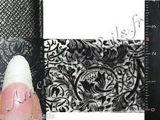 Rouleau Foils Nail Art Foil decor d'ongles Dentelle Noir Noire 150 cm