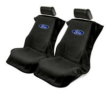 Seat Armour 2 Piece Front Car Seat Covers For Ford - Black Terry Cloth